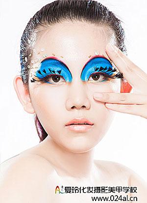 学员创意彩妆整体造型作品