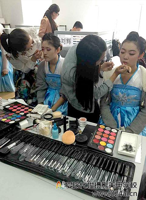爱玲化妆摄影美甲学校-学员实践
